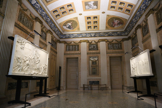 Access feature in the exhibition space at Palazzo Anguissola.