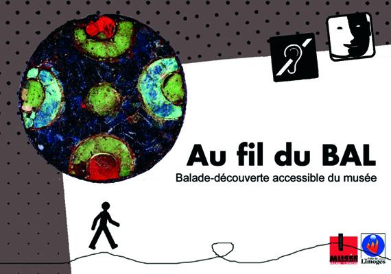 Couvertue et page intérieure du fascicule «Au fil du BAL» permettant la préparation de la visite (orientation dans le musée et explications des oeuvres).