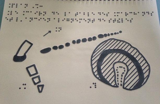 Livrets d'aide à la visite en braille et relief