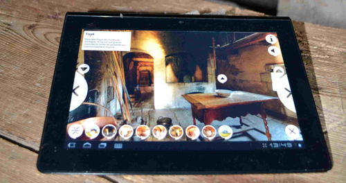 Application pour les visites virtuelles sur tablette tactile