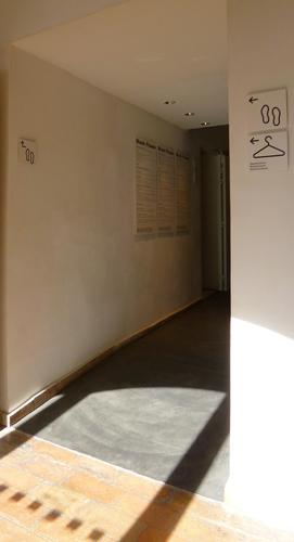 accès au vestiaire
