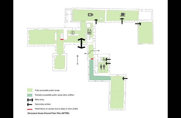 Plan de Derrynane House après les travaux