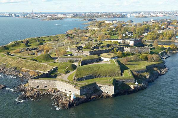 Vue aérienne de la forteresse de Suomenlinna