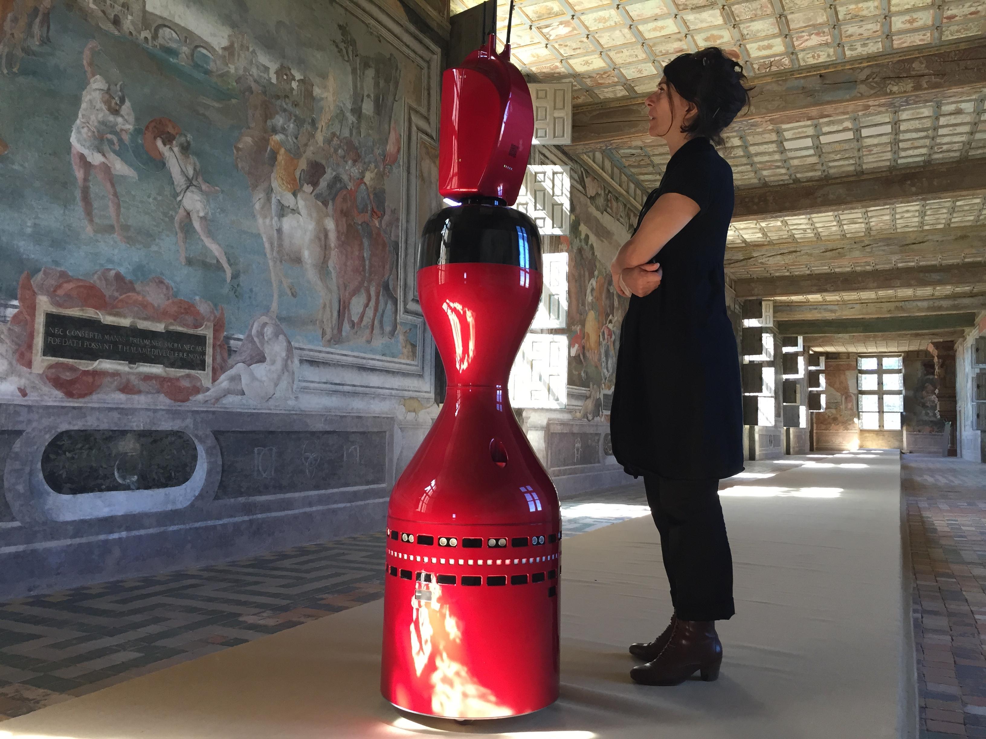 Le robot d'aide à la visite Norio - Crédit photographique Château d'Oiron
