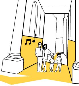Dans un passage couvert Adélie propose de diffuser de la musique déclenchée à l'aide de capteurs de mouvements