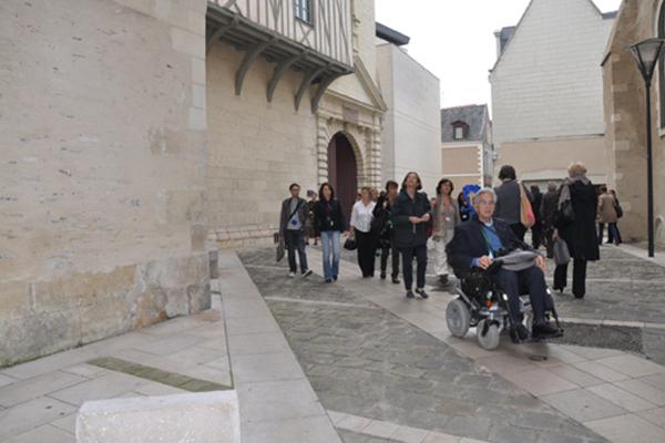 Parcours accessible du centre-ville d'Angers