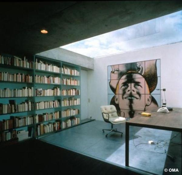 """Maison lemoine, le """"mur bibliothèque"""""""