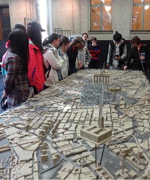 La maquette tactile du centre ville