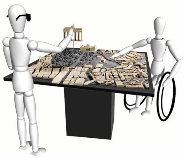 Maquette tactile du Reichstag et de ses alentours