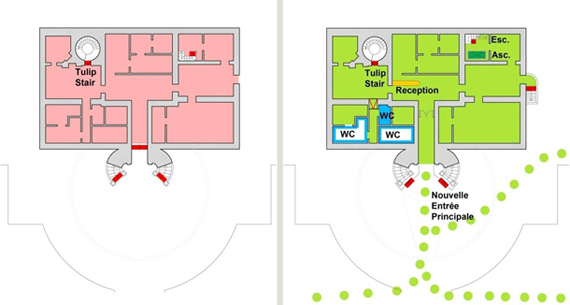 Plans de l'ancien et du nouveau sous-sol