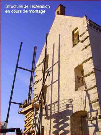 Vue du pignon Est du château avant la construction de l'extension