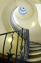 Vue du Tulip Stair, élément architectural préservé