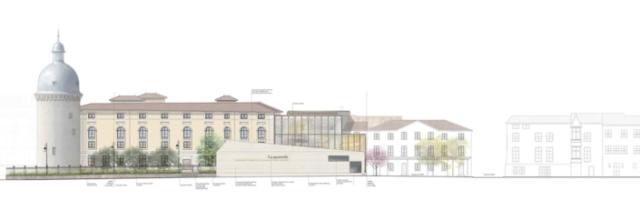 Façade urbaine visible depuis les quais de la Saône – crédit Agence Vurpas et associés