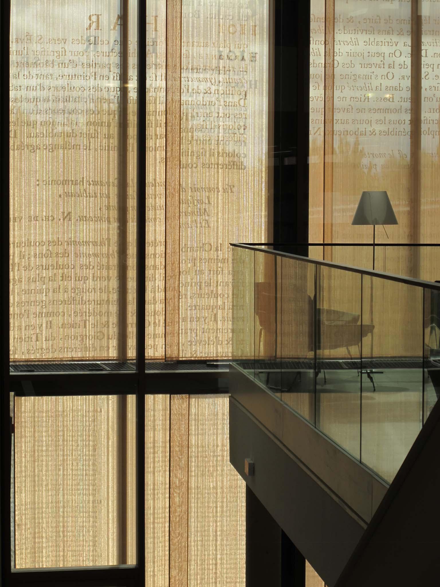 Les rideaux de fils métalliques – Crédit photographique Pierre Vurpas et Associés