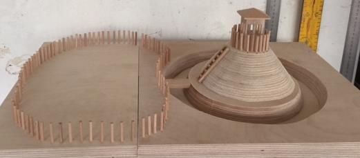 Maquette architecturale tactile - Crédit photographique : CIAP de Trévoux