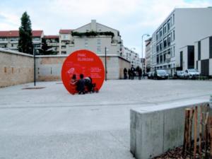 Entrée du Parc Blandan, Lyon, 2013