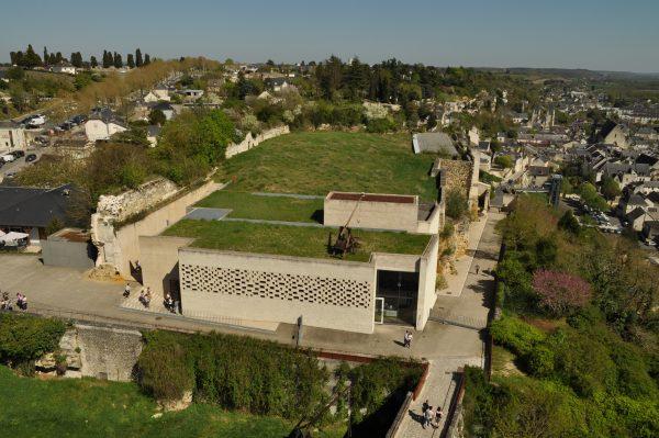 Vue aérienne du bâtiment d'accueil. Crédit photographique : Samuel Fruchard