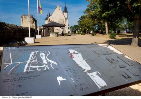 Plan tactile à l'entrée du site. Crédit photographique : Christophe Raimbault.