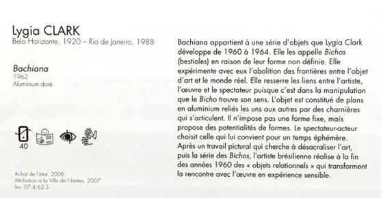 Cartel et accessibilité. Crédit photographique : Musée d'arts de Nantes.