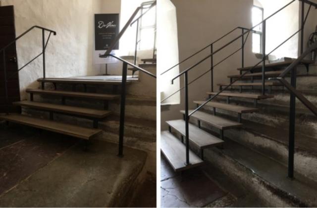 The staircases. Photo: Marlene Bergström, SFV- Statens fastighetsverk