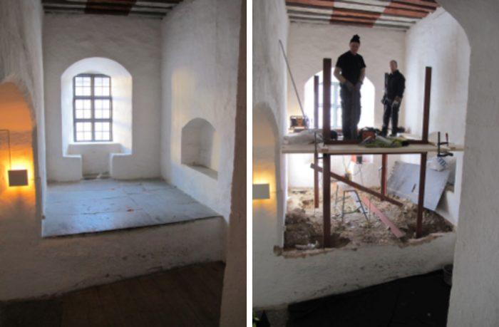 The original niche before the construction work began. Photo: Richard Edlund Kalmar läns museum.