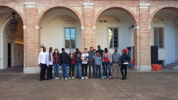 """Fig.8.The boys and girls of the""""Mani che Parlano"""" project"""