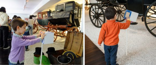 Carriage Museum – tactile itineraries for children, with a surprise chest to play with the coachman's clothes