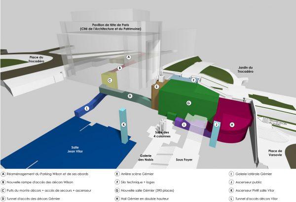 Axonométrie générale du projet. Crédit photographique : Agence Brossy&associés