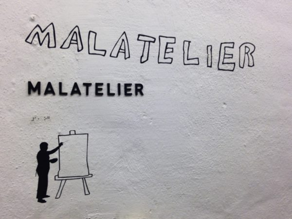 Sign for the painting studio. Photo: Marcus Weisen