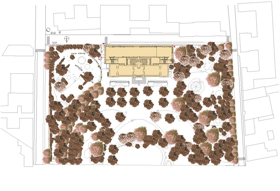 Plan masse du projet. Crédit photographique : Beaudouin-Husson