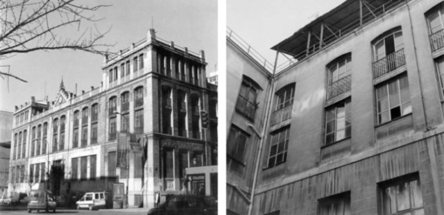 Fig. 2 (left). Casa de Empeños pre-transformation: the heritage façade of the disused heritage building. Fig. 3 (right). Casa de Empeños pre-transformation: the open central patio in a derelict state.