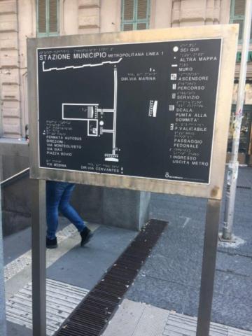Station du Municipo : plan en relief (extérieur)