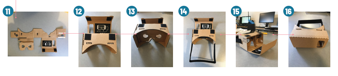 Montage d'un casque de réalité virtuelle pour la visualisation des vidéos à 360°