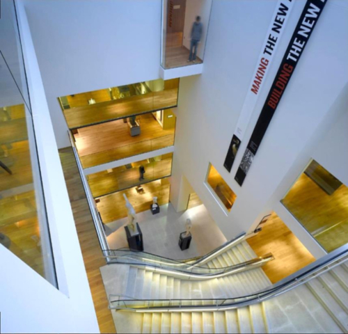 Fig. 7. Ashmolean Museum post-transformation: view of the new main atrium and stair.