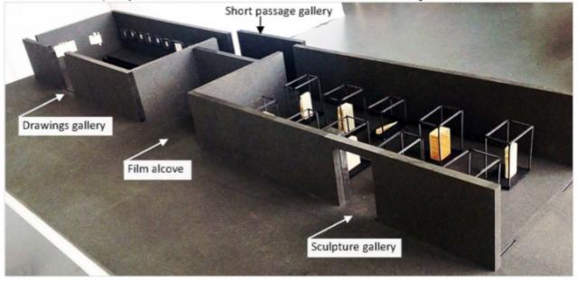Fig. 16. Alvaro Matxinbarrena's model of the design concept for the exhibition Mundo Extreme held at La Casa Encendida.16