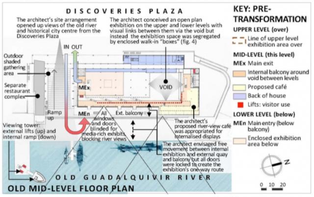 Fig. 5. Navigation Pavilion: mid-level floor plan for Expo'92, pre-transformation (1992).5