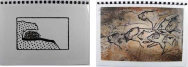 Extrait du livret en relief disponible à l'accueil du musée. Crédit photographique : Musée de l'Aurignacien.
